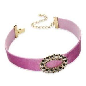 INC Pink Satin Broach Collar